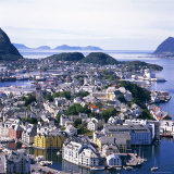 View Over Alesund  More Og Romsdal  Norway  Scandinavia  Europe