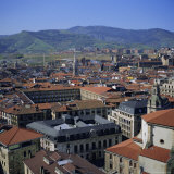 View Across Old Town  Bilbao  Capital of the Basque Province of Vizcaya (Pais Vasco)  Spain  Europe