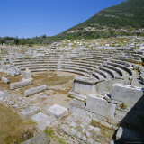 Amphitheatre at Sanctuary of Zeus  Mavromati Ithomi  Peloponese  Greece  Europe