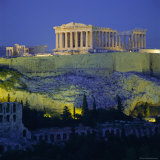 The Parthenon and Acropolis  Unesco World Heritage Site  Athens  Greece  Europe