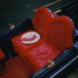 Gondola Seat and Gondolier's Hat  Venice  Veneto  Italy  Europe
