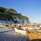 Boats on the Beach  Beer  Devon  England  UK