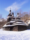 Christian Orthodox Wooden Church of St Michael from the 18th Century  Prague  Czech Republic