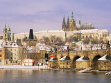 Prague Castle  Charles Bridge  Vltava River and Suburb of Mala Strana  Prague  Czech Republic