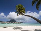 Pearl Beach Resort, Bora-Bora, Leeward Group, Society Islands, French Polynesia Papier Photo par Sergio Pitamitz