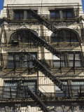 Fire Escapes on the Outside of Buildings in Spring Street  Soho  Manhattan  New York  USA