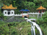 Waterfall  Changshun Tzu Water Temple  Taroko Gorge National Park  Taiwan  China