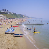 Beach and Boats  Bournemouth  Dorset  England