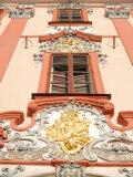 Detail of Baroque Decoration on Facade of Building  Karlovarsky Region  Czech Republic