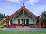 Maori Marae  or Meeting House  at Putiki  North Island  New Zealand