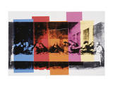 La Cène (détail) Detail of the Last Supper, vers 1986 Reproduction d'art par Andy Warhol
