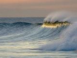 Big Waves Breaking at Sunrise at Emma Woods State Beach  California