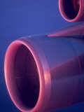 Close-Up of Jet Engine  in Mid Air over Atlantic Ocean