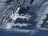 Aerial of la Guardia Airport in New York City