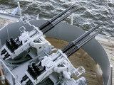 Anti-Aircraft Guns on the Battleship USS Massachusetts