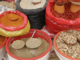 Bags of Mexican Spices and Beans at an Oudoor Market  San Cristobal de Las Casas  Mexico