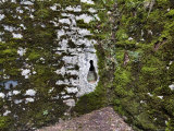 Close View of a Key Shaped Hole in the Stone Wall at Brolio Castle  Tuscany  Italy