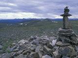 Cairn Off Top of the World Highway  Alaska