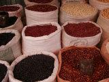 Bags of Mexican Beans at a Market  San Cristobal de Las Casas  Mexico