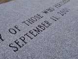 Close-Up of Granite Bench Dedicated to Victims of September 11th  Block Island  Rhode Island