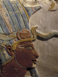 King Thutmose III with Atef Crown in the Luxor Museum in Luxor  Egypt