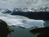 Aerial View of Three-Mile-Wide Moreno Glacier and Lago Argentino