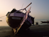 Beached Fishing Boat at Twilight