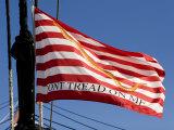 Don't Tread on Me Flag on USS Constitution  Boston  Massachusetts