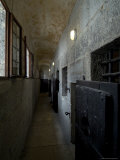 Hallway with Doors to Cells in the Prison of the Doges Palace  Venice  Italy