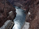 Hoover Dam's Power Substations Along the Colorado River