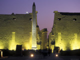 Luxor Temple with Obelisk and Entrance to Pylon at Luxor  Egypt