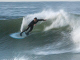 Motion Blur of a Surfer at Ventura Point  California