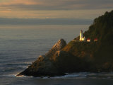 Distant View of the Heceta Head Lighthouse on the Oregon Coast