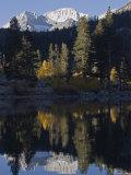 Mount Abbot Reflecting in Rock Creek Lake  California