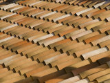 Machine Made Roof Tiles Create a Uniform Pattern  Aspiran  France