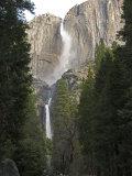 Upper and Lower Yosemite Falls in the Winter  California