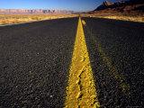 Lonley Stretch of Desert Road  Utah
