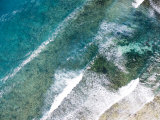 Turquoise Waves Breaking Off Shore  Eastern Zanzibar