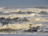 Storm Waves Pound the Shore