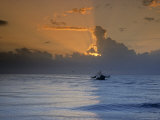 Shrimp Boat in the Gulf of Mexico at Sunset