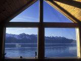 Sunrise over Resurrection Bay from Salt Water Lodge  Alaska