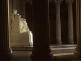 Sunlight Illuminates Lincoln's Statue in the Lincoln Memorial  Washington  DC
