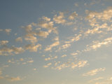 Sunset Clouds in Caribbean Sky  Ambergris Caye  Belize