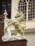 Unicorn Figure on the Old State House  Boston  Massachusetts