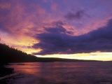 Sunset over Babine Lake at Burns Lake