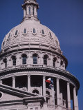 The Domed State Capital Building in Austin  Texas