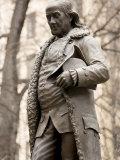 Statue of Ben Franklin in Boston  Massachusetts