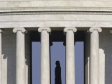Silhouette of the Jefferson Memorial  Washington  DC