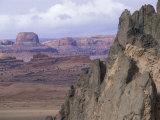 Southwest Desert Landscape of Church Rock and Half Dome