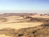The Far Reaches of the Ennedi Mountains and the Dust-Filled Horizon  Chad